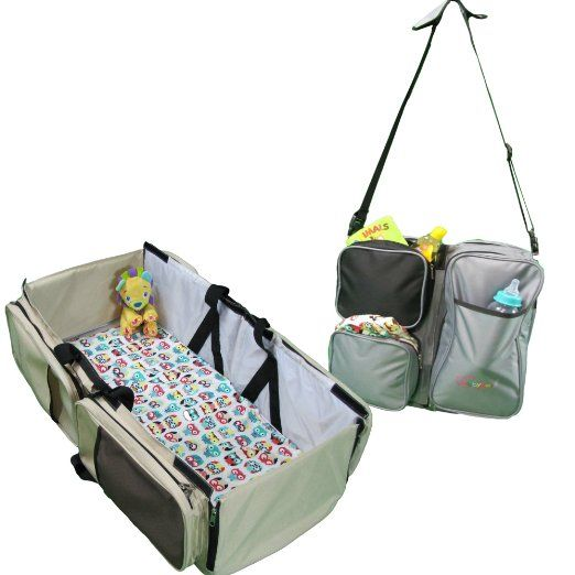 Amazon.com : EZ Travel Bed for Infants, gray and black ...