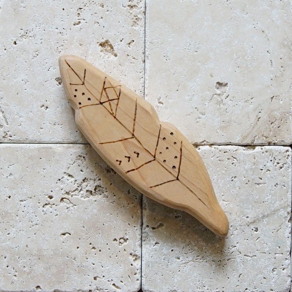 Maple Hardwood Feather Teether