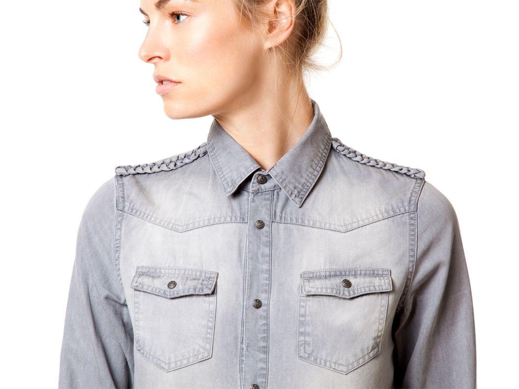 braided shoulders shirt