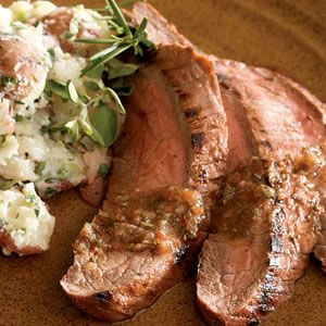 Tomato and herb marinated flank steak
