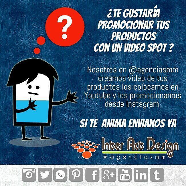 Un vídeo para promocionar tus producto ... Una idea excelente. #agenciasmm #maracaibo #medellin #bogota #aumentarventas #latinoamerica #redessociales