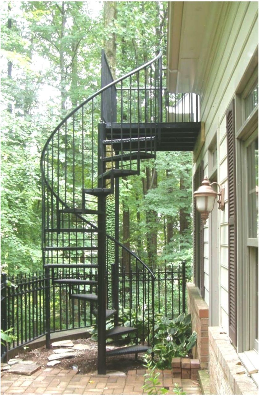 Outdoor Spiral Staircase Design Ideas 16 #stairsideas #Design #ideas #outdoor #o…