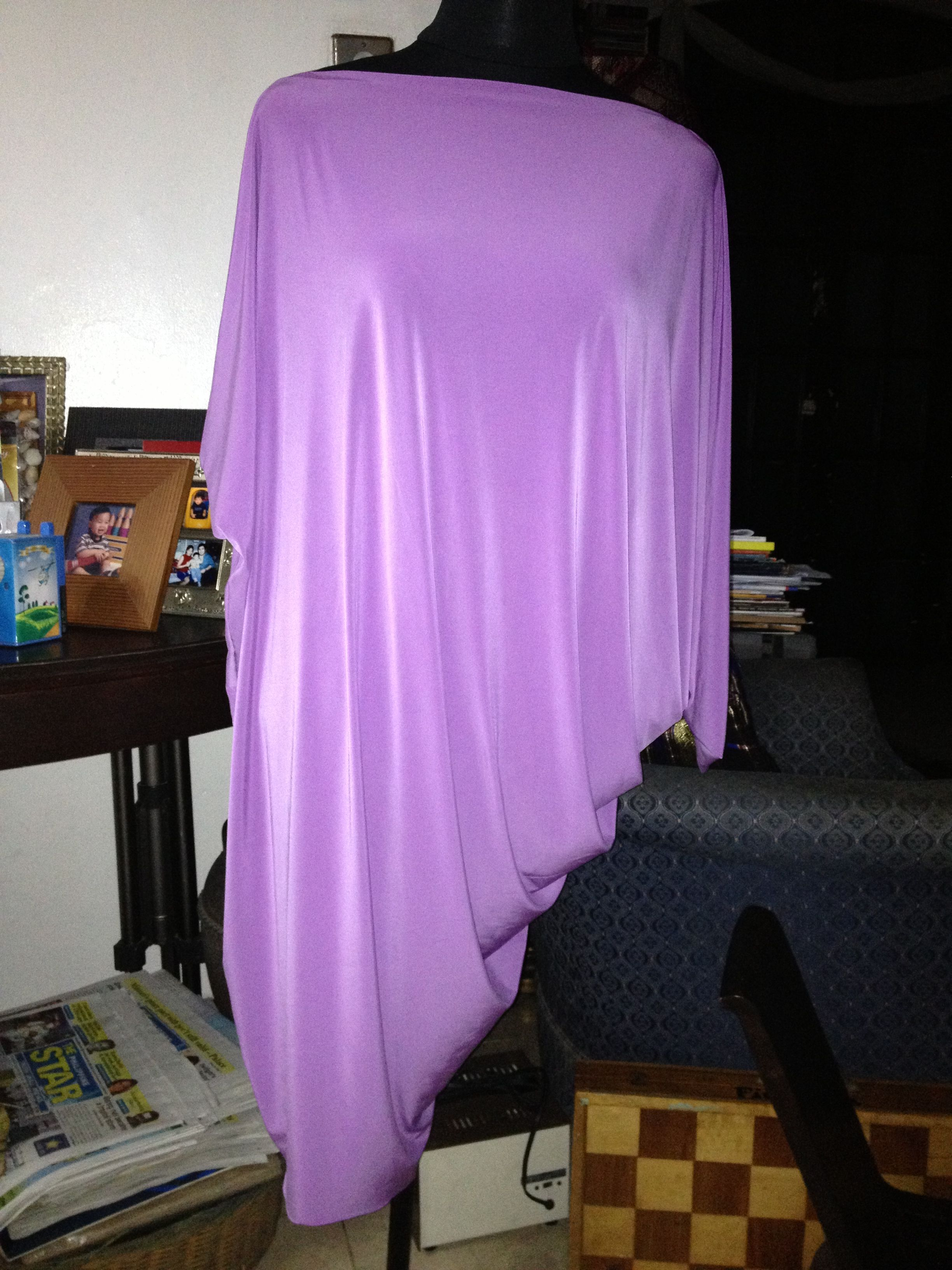 Lilac draped dress