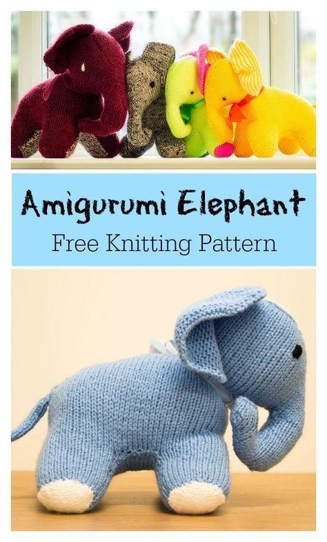 Amigurumi Elephant Free Knitting Pattern Amigurumi Elephant Free Knitting Pattern ,