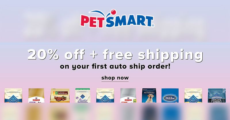 Get 20 Off Free Shipping On Every Order With Auto Ship Delivery At Petsmart Petscare Petslover Dogs Cats S Discount Codes Coupon Coupon Codes Coding