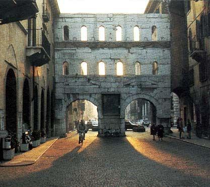 Verona Italy Porta Borsari Remains Of A Roman Gate