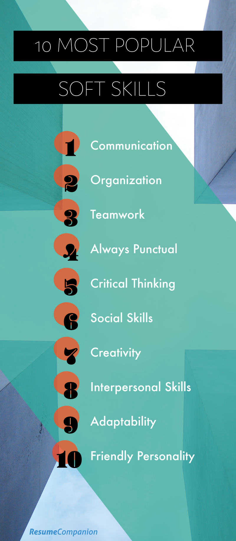 Top 10 Soft Skills For A Resume Employers Look For Infographic Resume Skills Soft Skills Skills