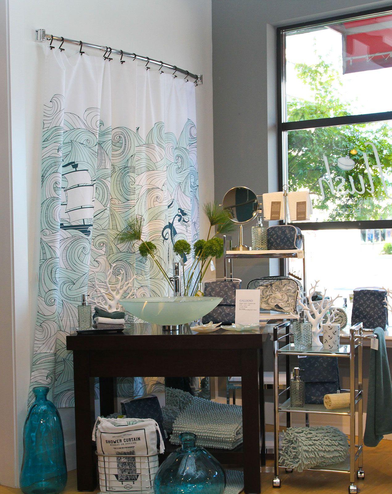 Bathroom colors themes decor ideas on pinterest shower - And Again Sea Scape Shower Curtain Ocean Themes