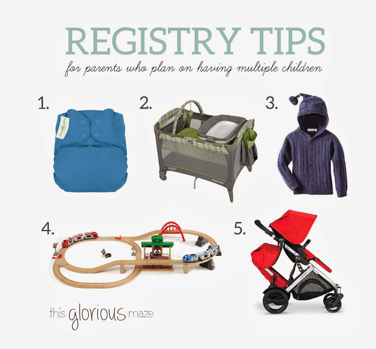 Registry Tips For Parents Who Plan On Having Multiple