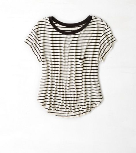 Cream AEO Soft & Sexy Swing T-Shirt