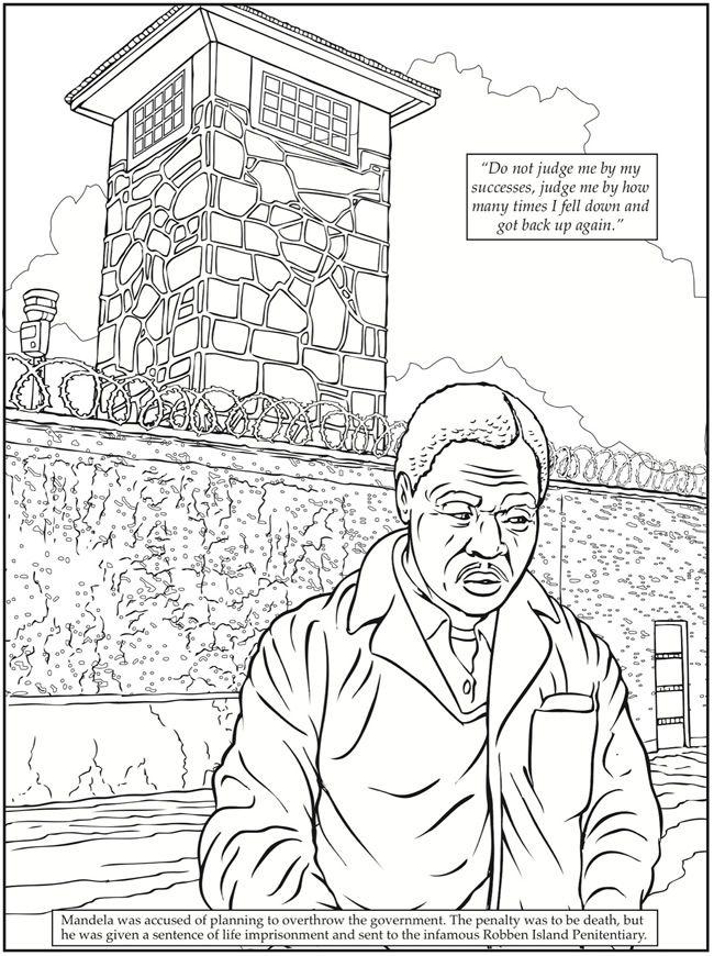 Dover Publications Nelson Mandela Coloring Book