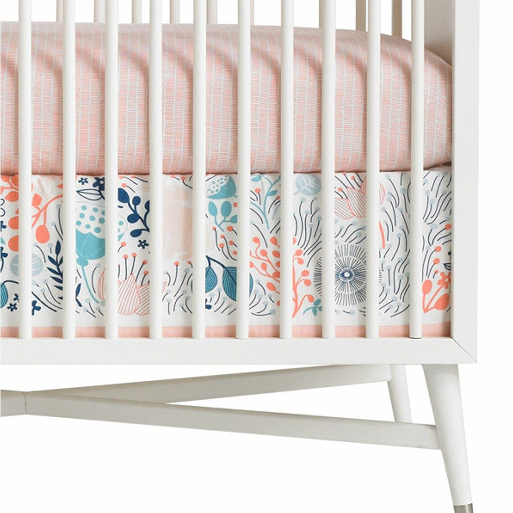 Dwellstudio Crib Skirt Canvas Meadow Powder Blue With Images