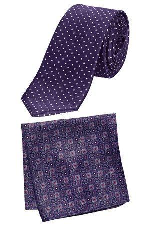Purple Spot Tie & Pocket Square Set