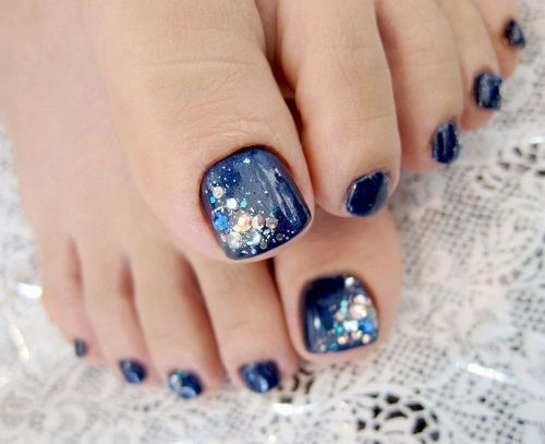 52 Pretty and Cute Toe Nail Designs - 52 Pretty And Cute Toe Nail Designs Toe Nail Designs, Blue Toe