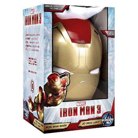 Marvel 3D Wall Nightlight - Iron Man Mask