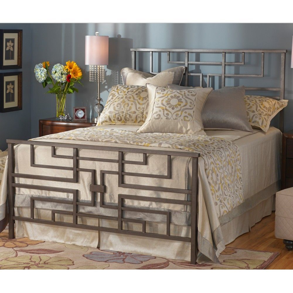 Bradford Iron Bed Shown In Aged Steel