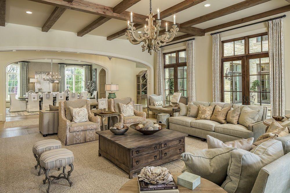 Eclectic Living Room with Hardwood floors, Big Weathered ...