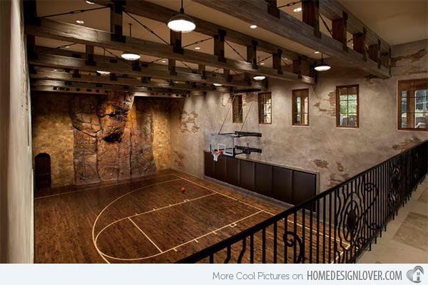 15 Ideas For Indoor Home Basketball Courts Home Design Lover Home Basketball Court Indoor Basketball Indoor Basketball Court