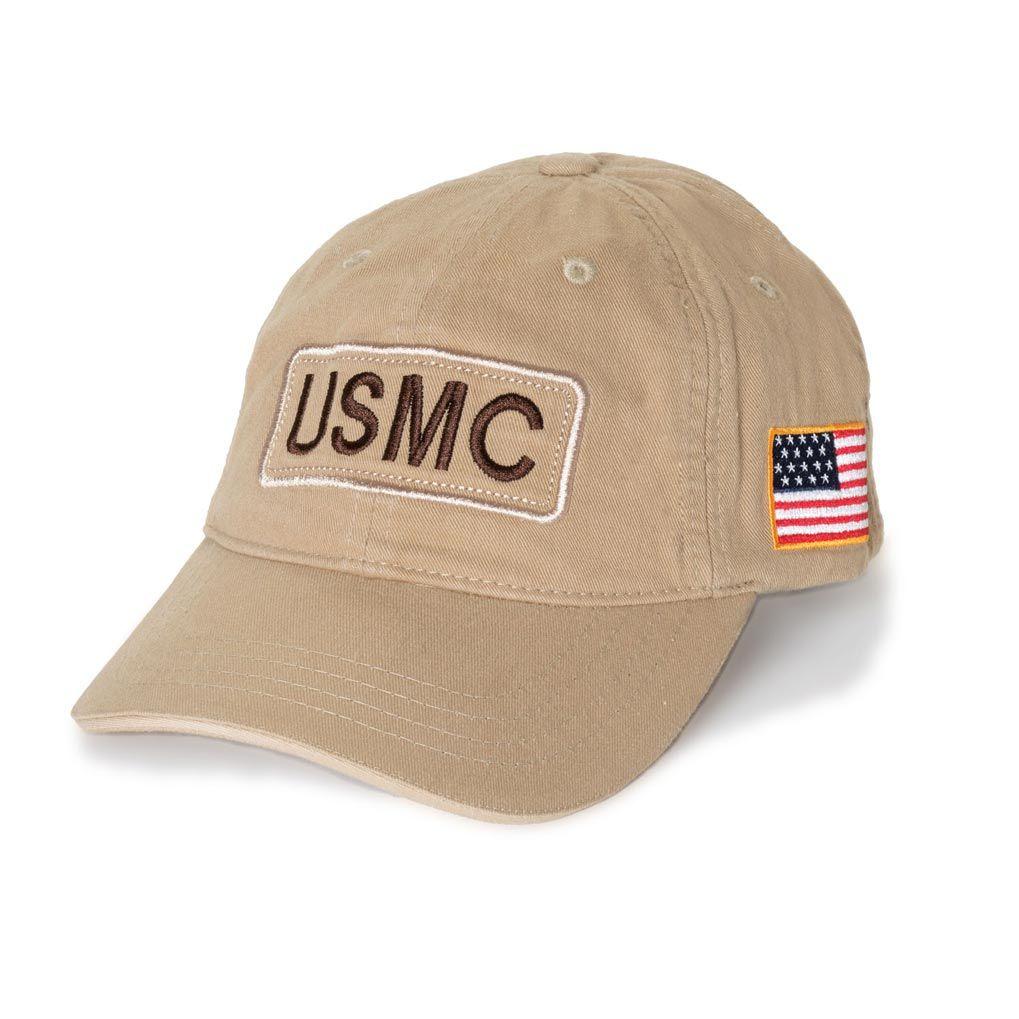 USMC Marine Marines Red EGA Embroidered Visor Cap Hat Brand New
