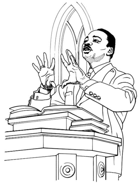 dr martin luther king jr coloring page