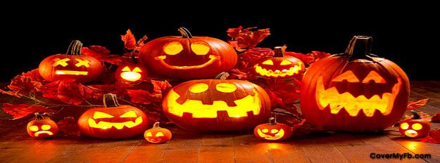 Jack-O-Lanterns Facebook Cover | Halloween Thanks and Fall