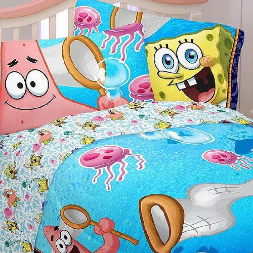 Kids would love these Spongebob Squarepants bedroom and home decor ideas featured here.