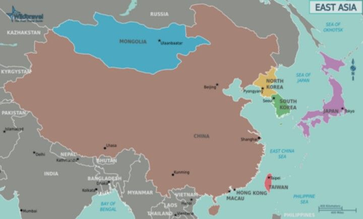 Eastern Asia Beijing China Taipei Taiwan Ulan Bator Mongolia