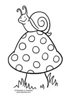 Dulemba: Coloring Page Tuesday   Snail