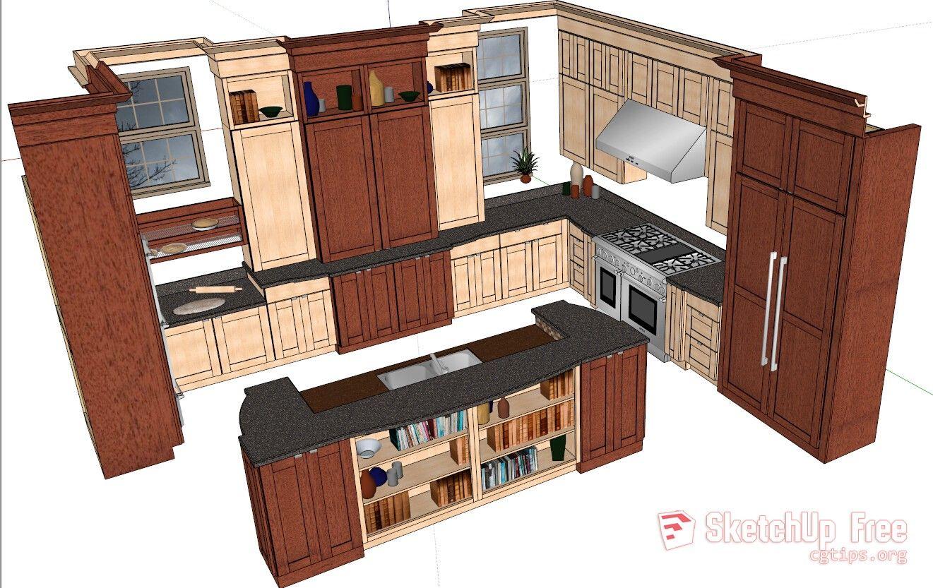 9 Kitchen Sketchup Model Free Download   Sketchup model ...