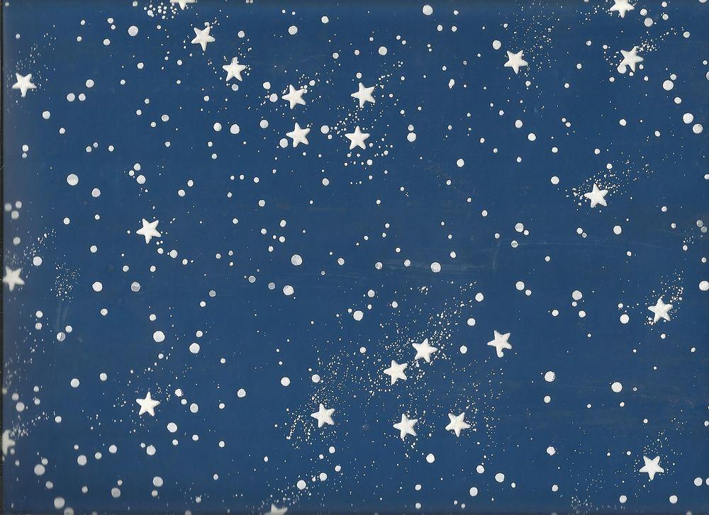 Glow In The Dark Star Sky Ceiling Wallpaper BY1111