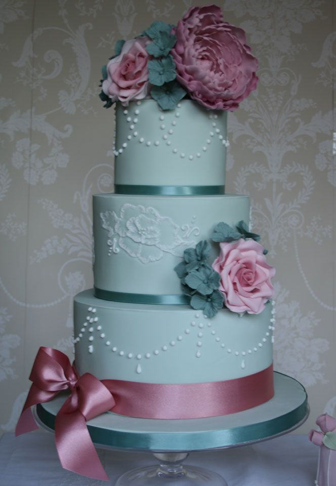 Joyful Tiers Wedding Cakes Duckegg Vintage