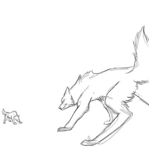 Wolf Fight Animation By Runeme On Deviantart Wolves Fighting Wolf Sketch Anime Wolf Drawing