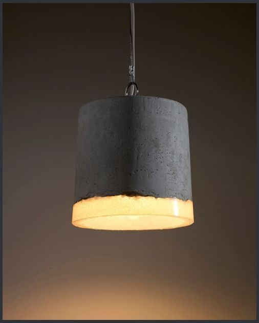 Concrete luminaire in industrial style BETON