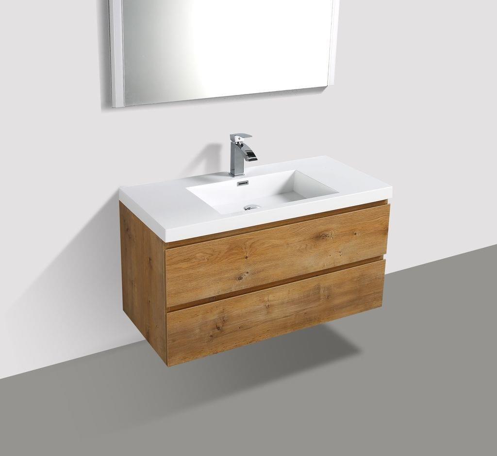Moderner Unterschrank Griffloses Design Mdf Holz Front Und Seitenwangen In Eiche Optik Wasch In 2020 Badezimmer Unterschrank Holz Badezimmer Unterschrank Unterschrank