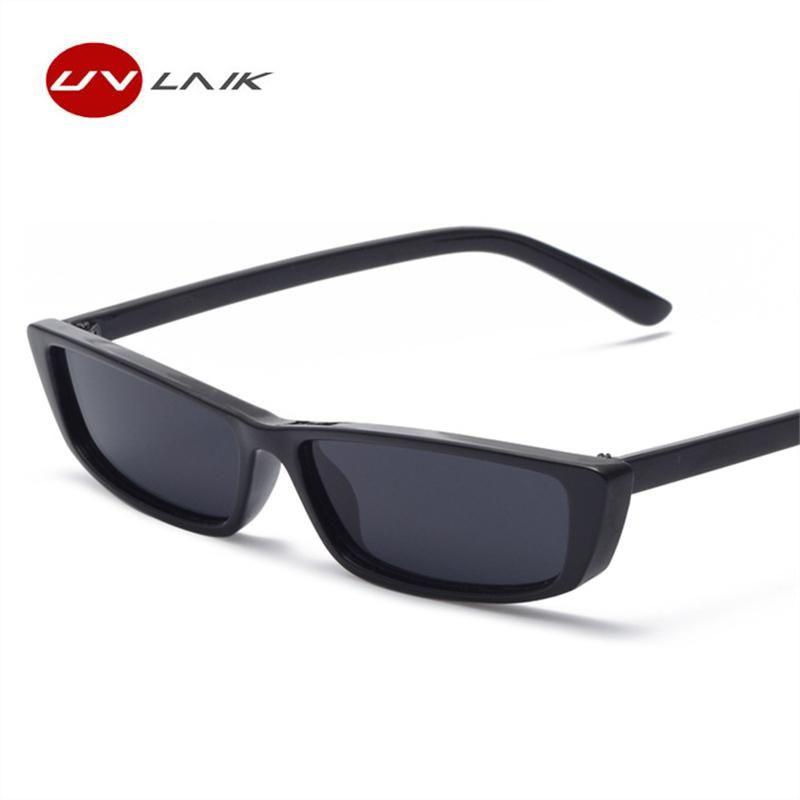 8f9dfdb764 UVLAIK Retro Small Rectangle Sunglasses Women Men 2018 Fashion Clear Lens  Vintage Cat Eye for women