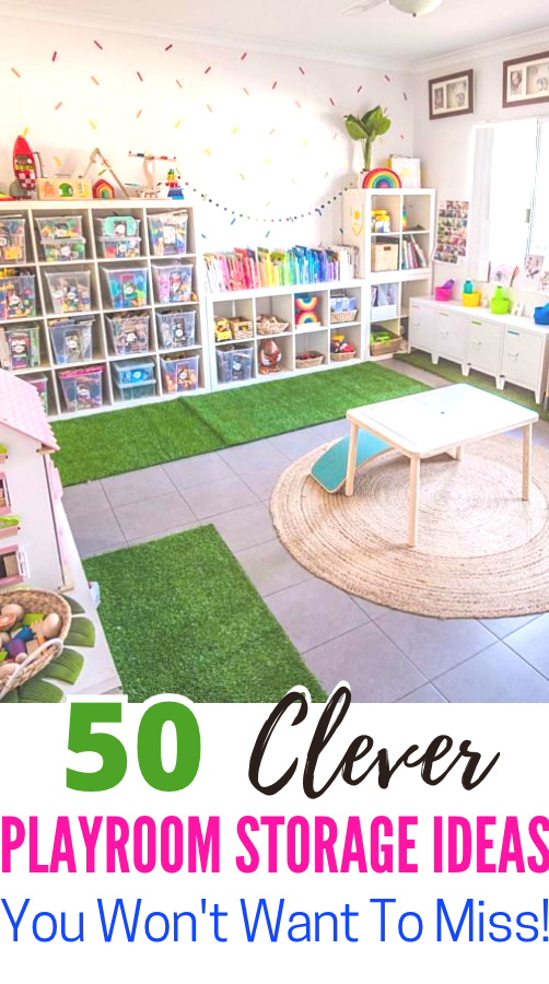 50 Clever Playroom Storage Ideas You, Storage Ideas For Children S Playrooms