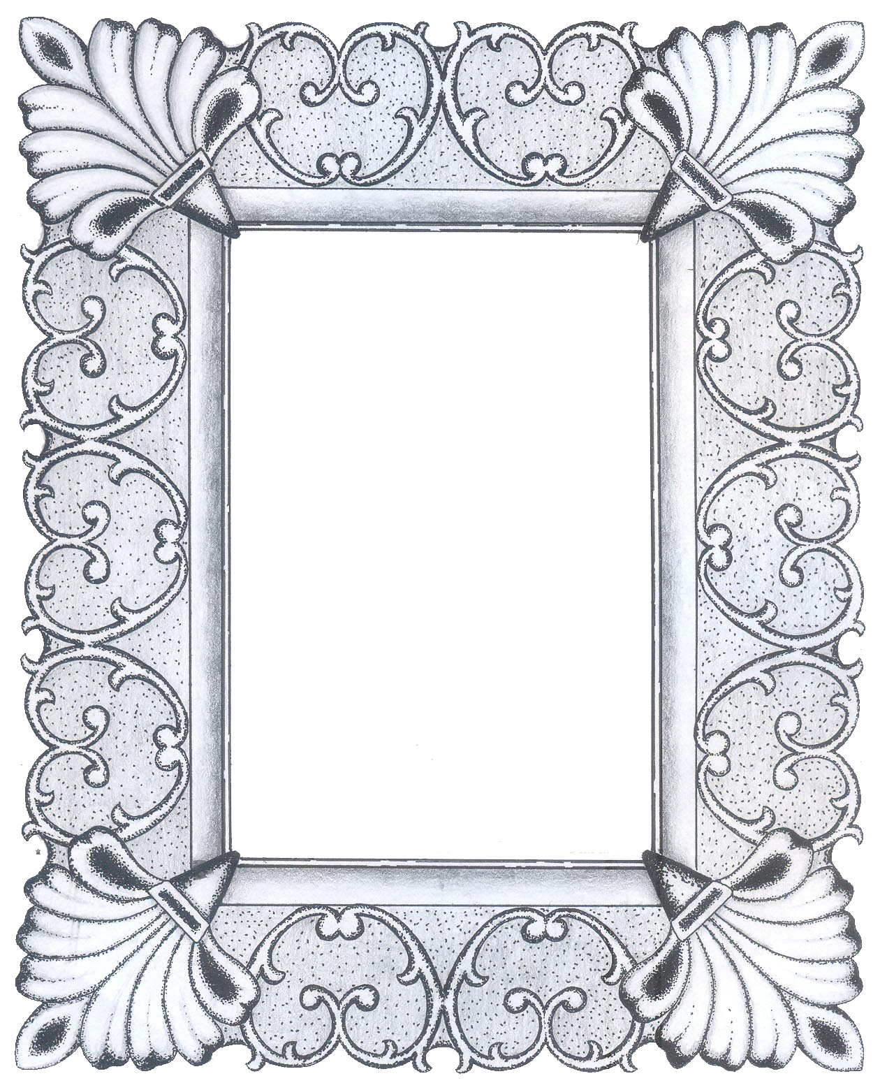 metal frame png | Frames - Pattern | Pinterest | Rahmen