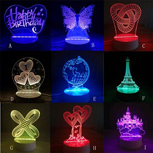 Christmas Led Night Light Odeer 3d Unique Lighting Effects Optical Home Decor Led Remote Control Table Lamp Color B 3d Led Night Light Lamp Led Night Light