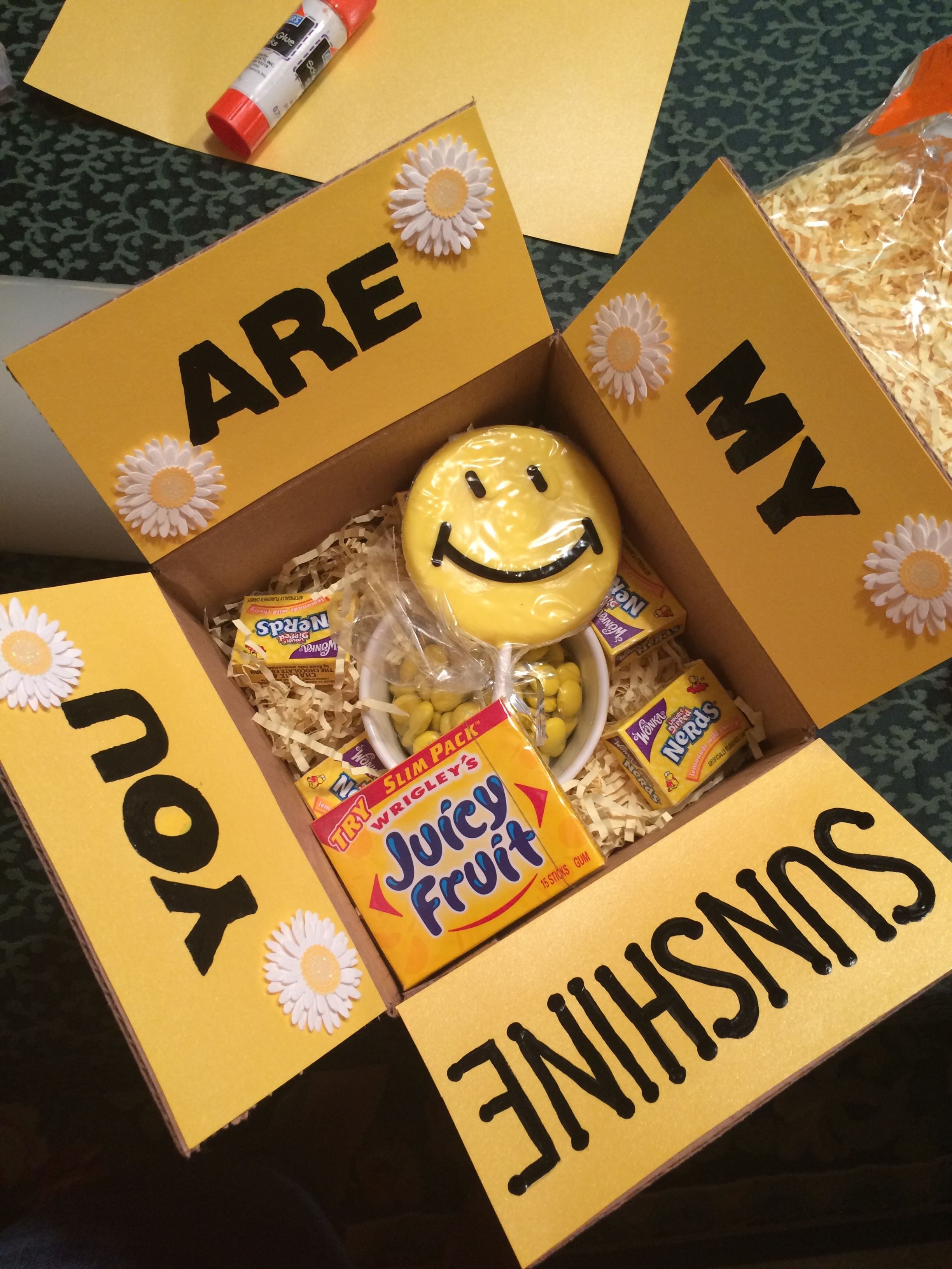 Quot You Are My Sunshine Quot Yellow Themed Care Package Sent To