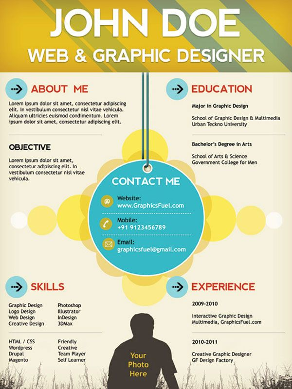 5 Plantillas para Curriculum Vitae gratis Creative cv, Resume cv - web developer resume template