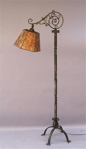 Wrought Iron Floor Lamps Beauteous 4737Cast Bronze And Wrought Iron Floor Lamp 1920's $1700  Lamps Inspiration