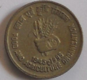 5 Rupees Food And Agriculture Organization Sell Old Coins Old