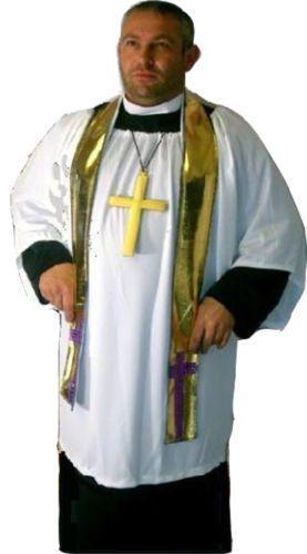 XXL Parish Priest Vicar of Dibley Fancy Dress Plus Size Costume UNISEX