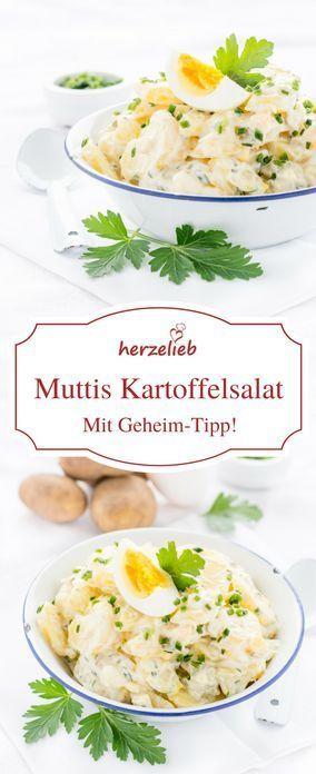 Wie von Mutti – Kartoffelsalat mit wenig Mayonnaise #potatosalad