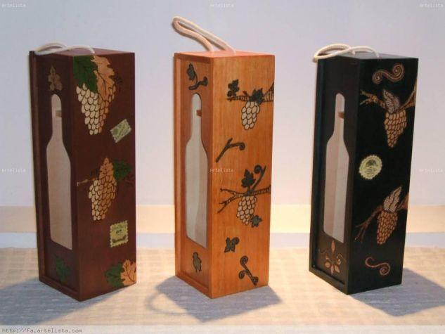 cajas de vino decoradas - Cajas De Vino Decoradas