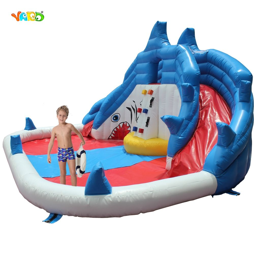 YARD Inflatable Slide Water Park Summer Swimming Pool with ...