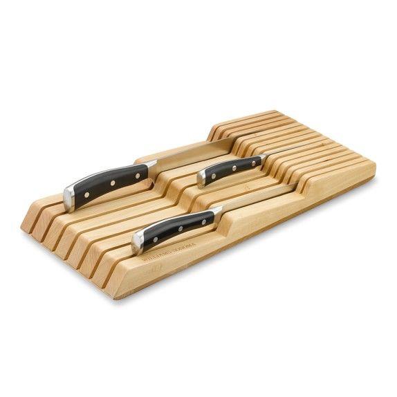 In-Drawer 15-Slot Knife Organizer, Maple in 2018 Kitchen