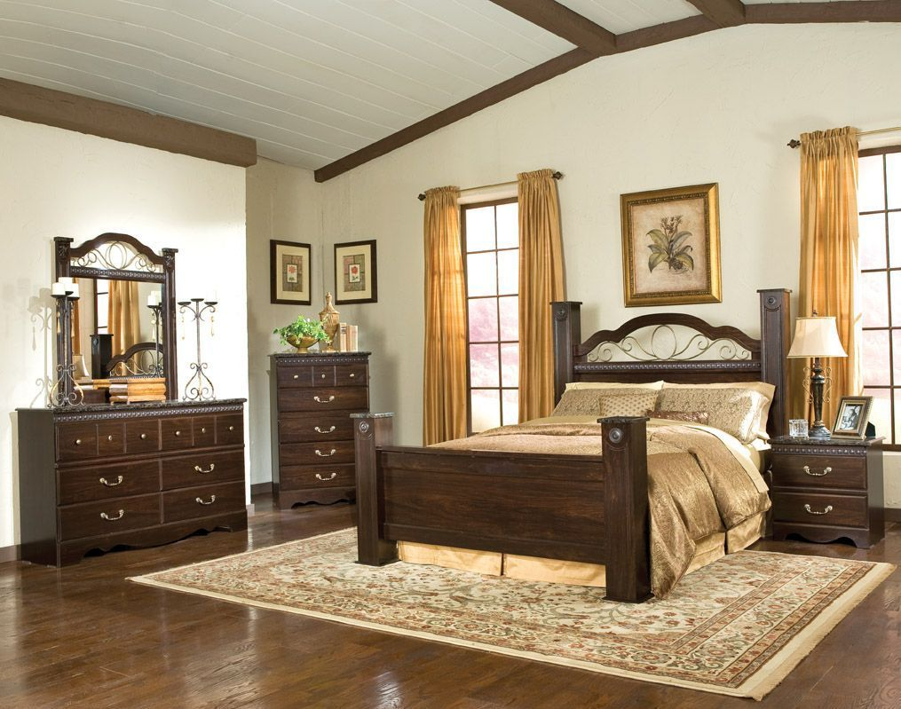 Sorrento queen poster bed b standard furniture pinterest