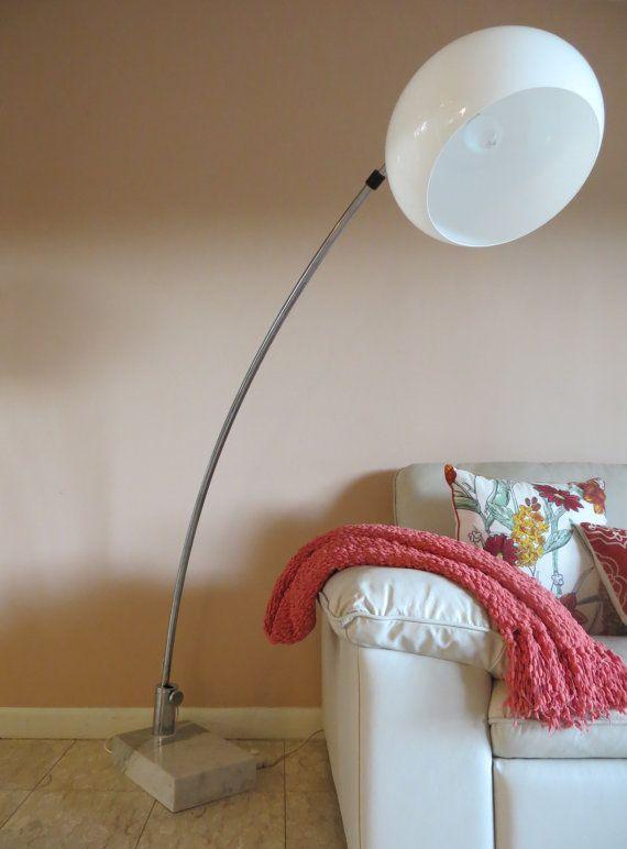 Reserved Mid Century Modern Arc Chrome Dome Floor Lamp