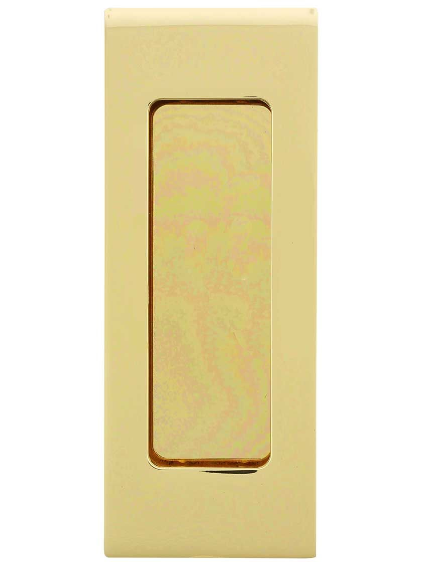 Madison 4 1 2 Rectangular Pocket Door Pull Pocket Door Pulls Pocket Doors Door Pulls
